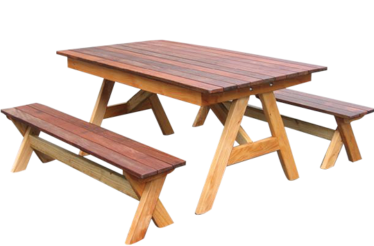 Free Standing Table and Bench Seats